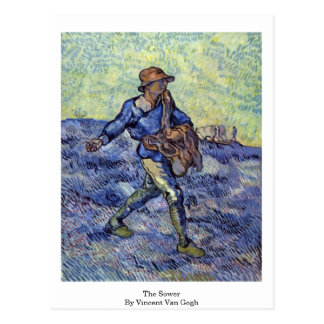 The Sower By Vincent Van Gogh Postcard
