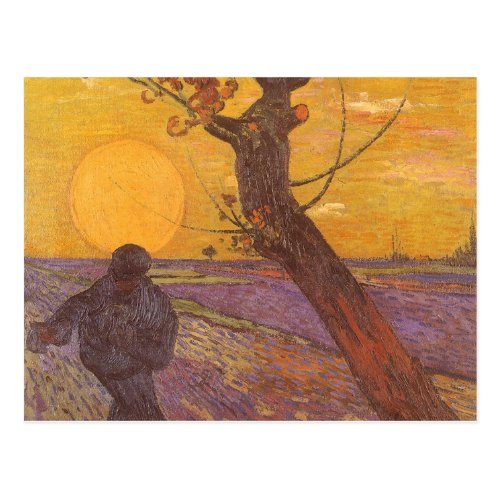 The Sower by Vincent van Gogh Vintage Fine Art Postcard