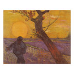 The Sower by Vincent van Gogh, Vintage Fine Art Poster