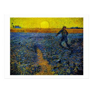 The Sower (F422) Van Gogh Fine Art Postcard