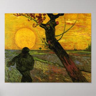 The Sower (F450) Van Gogh Fine Art Poster