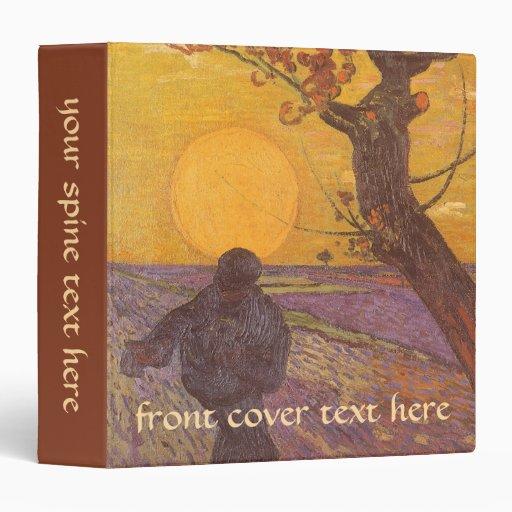 The Sower, Vincent van Gogh, Vintage Impressionism Binder