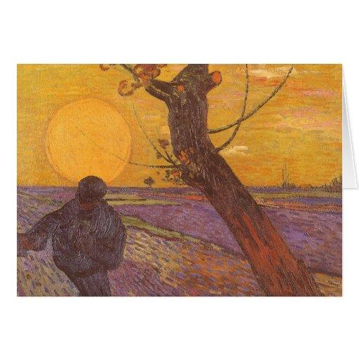 The Sower, Vincent van Gogh, Vintage Impressionism Greeting Card