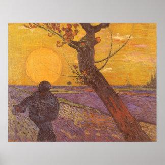 The Sower, Vincent van Gogh, Vintage Impressionism Poster
