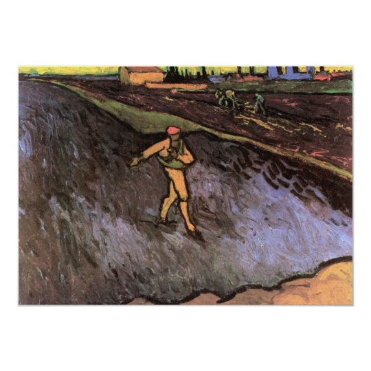 The Sower with the outskirts of Arles - van Gogh Card