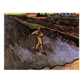 The Sower with the outskirts of Arles - van Gogh Postcard