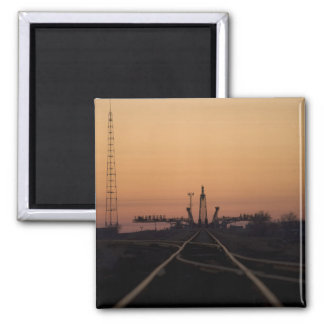 The Soyuz launch pad 2 Inch Square Magnet