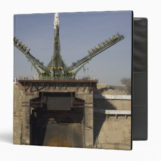 The Soyuz rocket is erected into position 3 3 Ring Binders