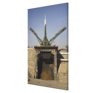 The Soyuz rocket is erected into position 3 Canvas Prints