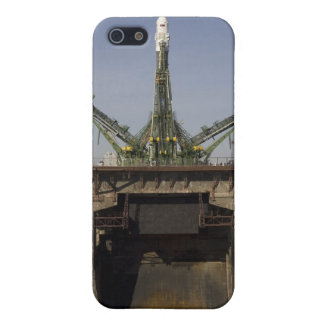 The Soyuz rocket is erected into position 3 iPhone 5 Covers