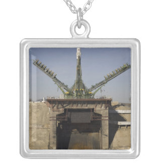 The Soyuz rocket is erected into position 3 Custom Necklace