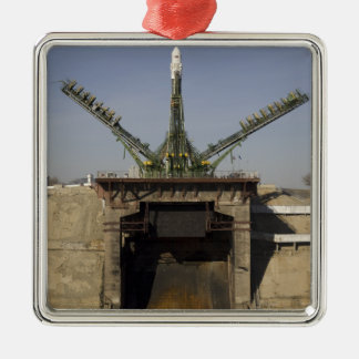 The Soyuz rocket is erected into position 3 Ornament