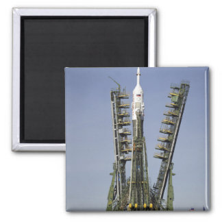 The Soyuz rocket is erected into position 4 2 Inch Square Magnet