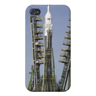 The Soyuz rocket is erected into position 4 iPhone 4 Cases
