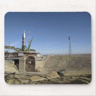 The Soyuz rocket is erected into position 5 Mouse Pad