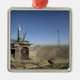 The Soyuz rocket is erected into position 5 Christmas Tree Ornaments