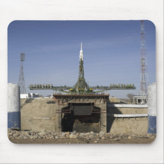 The Soyuz rocket is erected into position 6 Mouse Pad