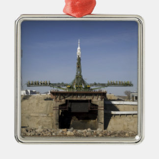 The Soyuz rocket is erected into position 6 Ornaments
