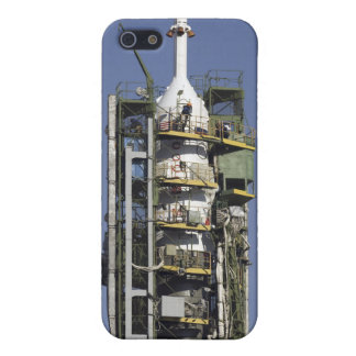 The Soyuz rocket is erected into position iPhone 5/5S Case