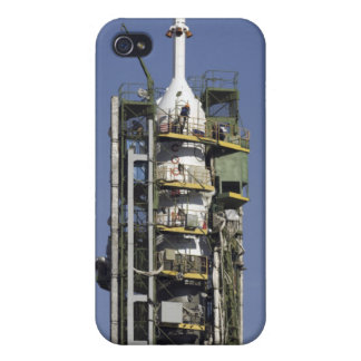 The Soyuz rocket is erected into position Cases For iPhone 4