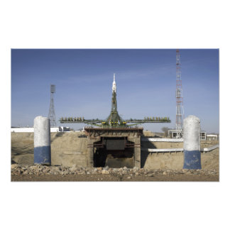 The Soyuz rocket is erected into position Art Photo
