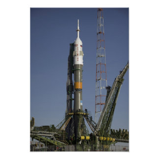 The Soyuz rocket is erected into position Posters