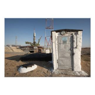 The Soyuz rocket shortly after arrival Photo Print
