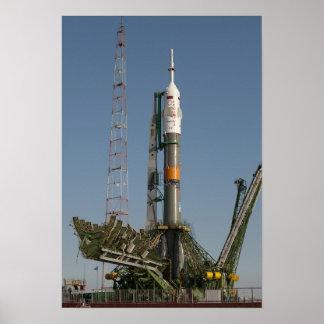 The Soyuz rocket shortly after arrival Poster
