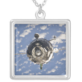The Soyuz TMA-01M spacecraft Silver Plated Necklace
