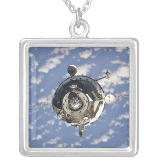 The Soyuz TMA-01M spacecraft Square Pendant Necklace