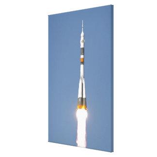 The Soyuz TMA-12 spacecraft Stretched Canvas Print