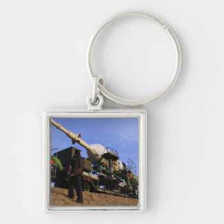The Soyuz TMA-13 spacecraft 3 Silver-Colored Square Keychain