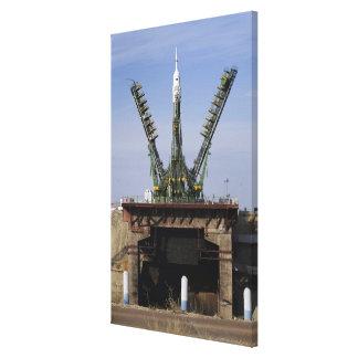 The Soyuz TMA-13 spacecraft Stretched Canvas Print