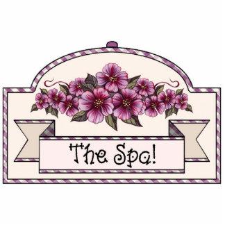 """The Spa!"" - Decorative Sign - 35 Photo Sculpture Ornament"