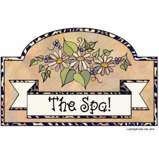 """The Spa"" - Decorative Sign Photo Sculpture Ornament"