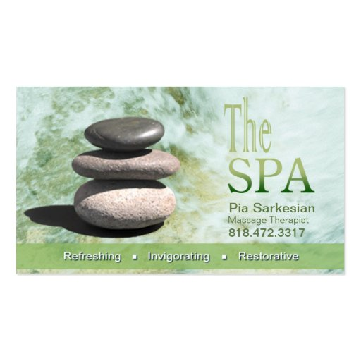 The Spa Massage Therapist Business Card template