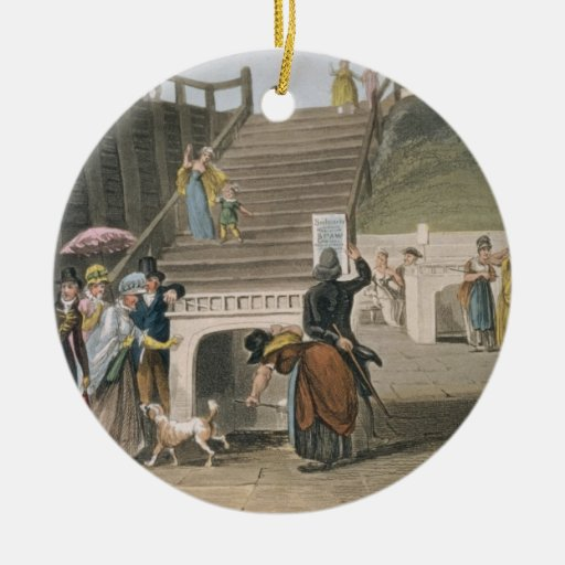 The Spa, plate from 'Poetical Sketches of Scarboro Christmas Ornament