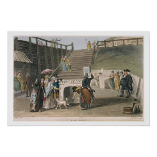 The Spa, plate from 'Poetical Sketches of Scarboro Poster