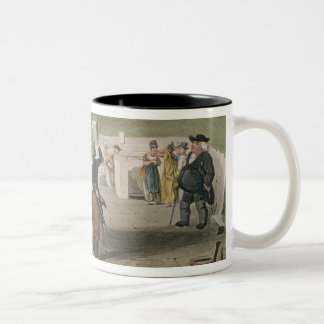 The Spa, plate from 'Poetical Sketches of Scarboro Two-Tone Coffee Mug