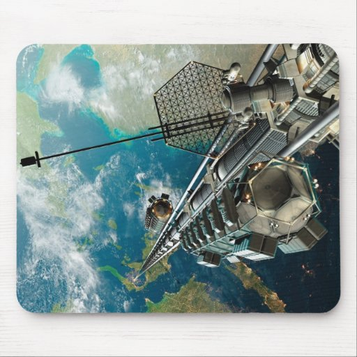 The Space Elevator Mouse Pad