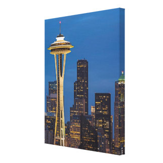 The Space Needle and downtown Seattle Gallery Wrapped Canvas