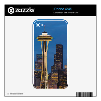 The Space Needle and downtown Seattle Decal For The iPhone 4