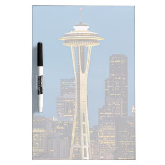 The Space Needle and downtown Seattle Dry-Erase Board