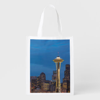 The Space Needle and downtown Seattle Grocery Bags
