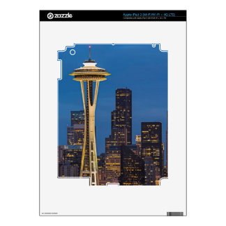 The Space Needle and downtown Seattle iPad 3 Decal