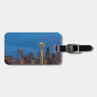 The Space Needle and downtown Seattle Luggage Tag