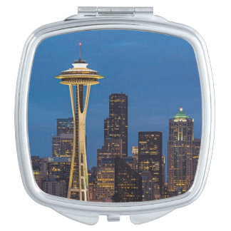 The Space Needle and downtown Seattle Mirror For Makeup