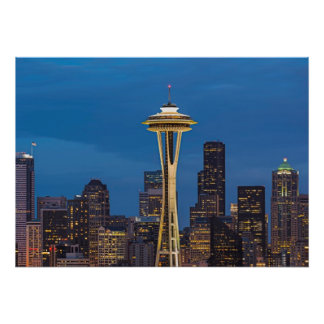The Space Needle and downtown Seattle Posters