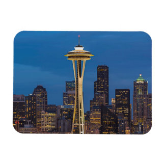 The Space Needle and downtown Seattle Rectangular Photo Magnet