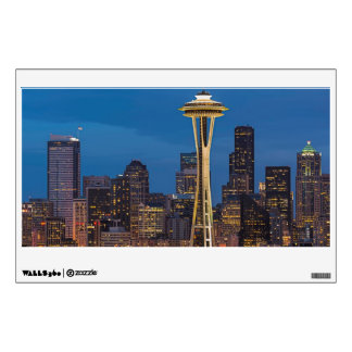 The Space Needle and downtown Seattle Wall Sticker